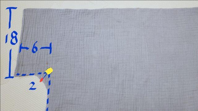 バスタオルポンチョの袖の作り方