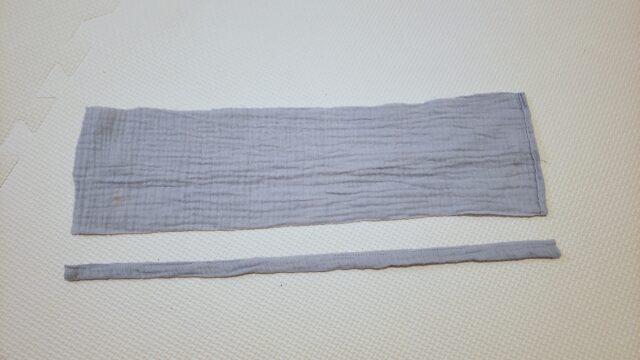 バスタオルポンチョの襟部分